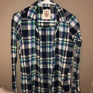 green and navy soft women's flannel
